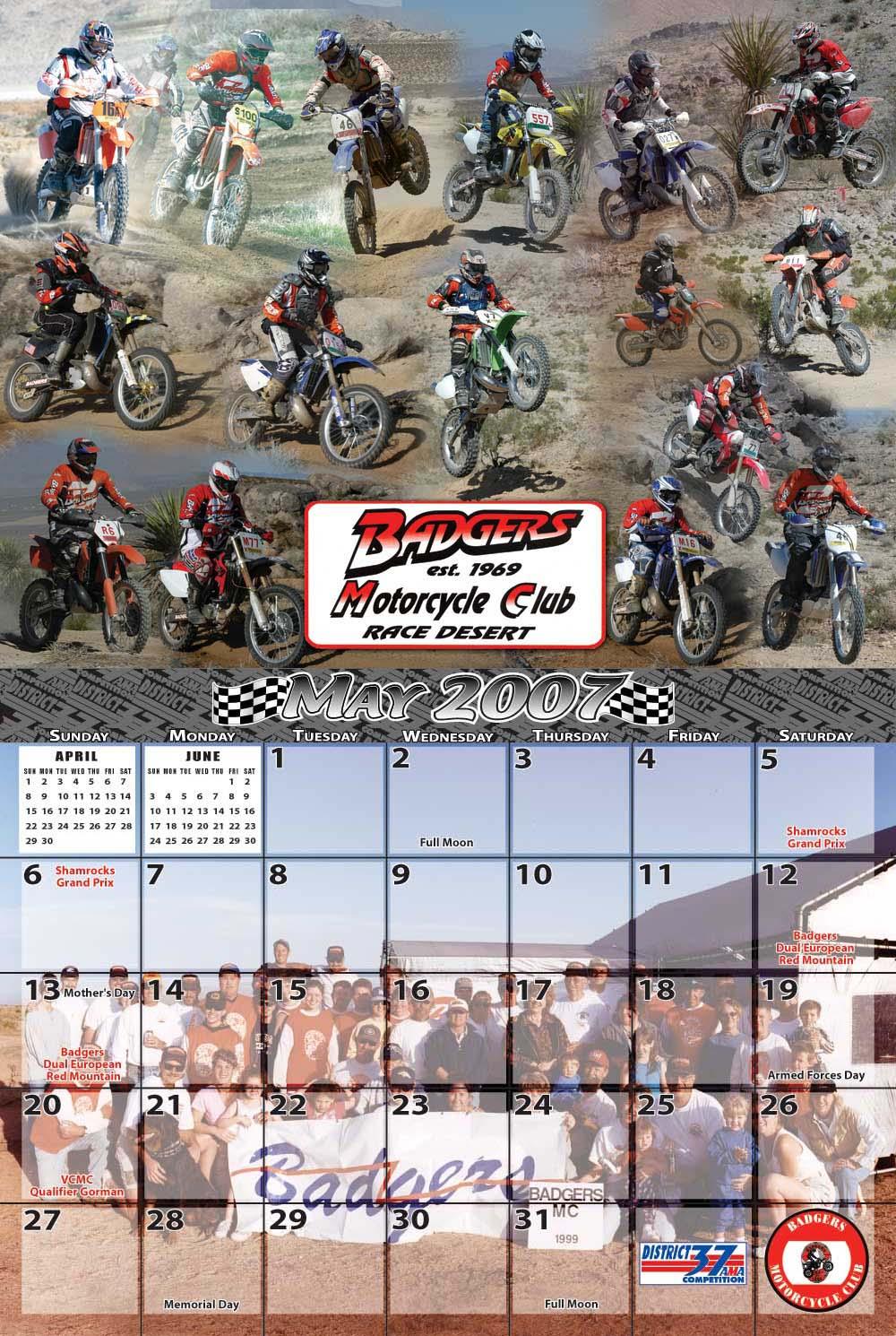 Racing Calendar May : Animal house designs presents the off road racing